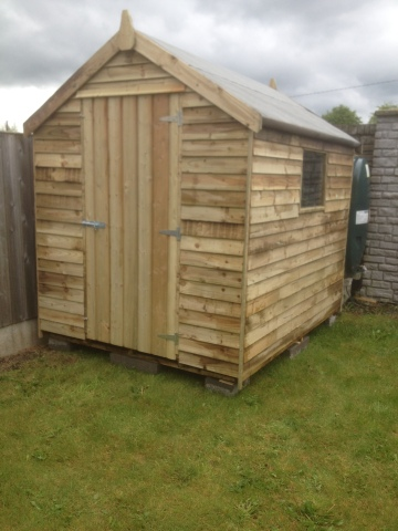8ft x 6ft Rustic pressure treated Shed